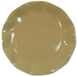 Assiettes Moyennes Carton x10 Taupe