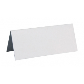 Marque Place rectangle carton x 10 Blanc