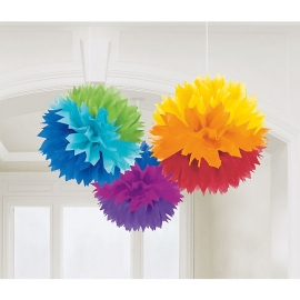 POMPOMS X3 40CM MULTICOLOR