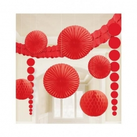 KIT DE DECO PAPIER ROUGE