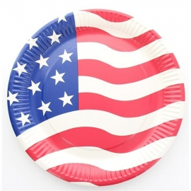 ASSIETTES USA X10