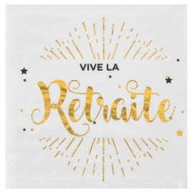 SERVIETTE DE TABLE RETRAITE OR