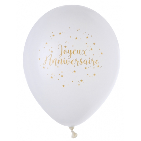 BALLONS ANNIVERSAIRE OR
