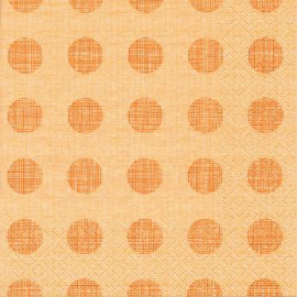 SERVIETTE POIS ORANGE