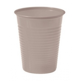 GOBELETS PLASTIQUES 20CL X25 TAUPE