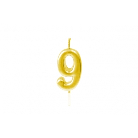 BOUGIE CHIFFRE OR 9