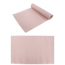 CHEMIN DE TABLE BURLAP ROSE