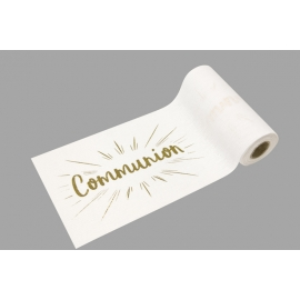 PETIT CHEMIN DE TABLE COMMUNION OR