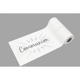 PETIT CHEMIN DE TABLE COMMUNION ARGENT