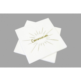SERVIETTES X 20 COMMUNION OR