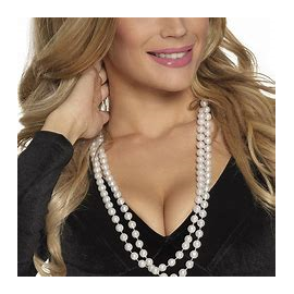 COLLIER DE PERLES DOUBLE BLANC