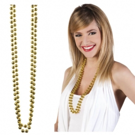 COLLIER DE PERLES DOUBLE OR