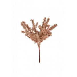 PIC SAPIN PAILLETTE 25CM OR ROSE