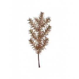BRANCHE SAPIN PAILLETTE 25CM OR ROSE