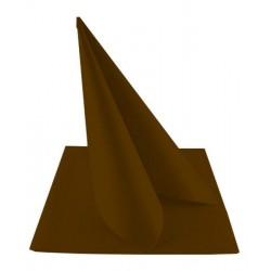 Serviettes Intissées 40x40 Chocolat