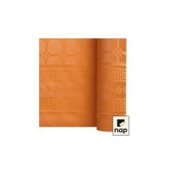 nappe damass e 6m mandarine envies festives. Black Bedroom Furniture Sets. Home Design Ideas
