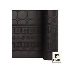 nappe damass e 25m noir eb ne envies festives. Black Bedroom Furniture Sets. Home Design Ideas