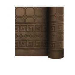 nappe damass e 25m chocolat envies festives. Black Bedroom Furniture Sets. Home Design Ideas
