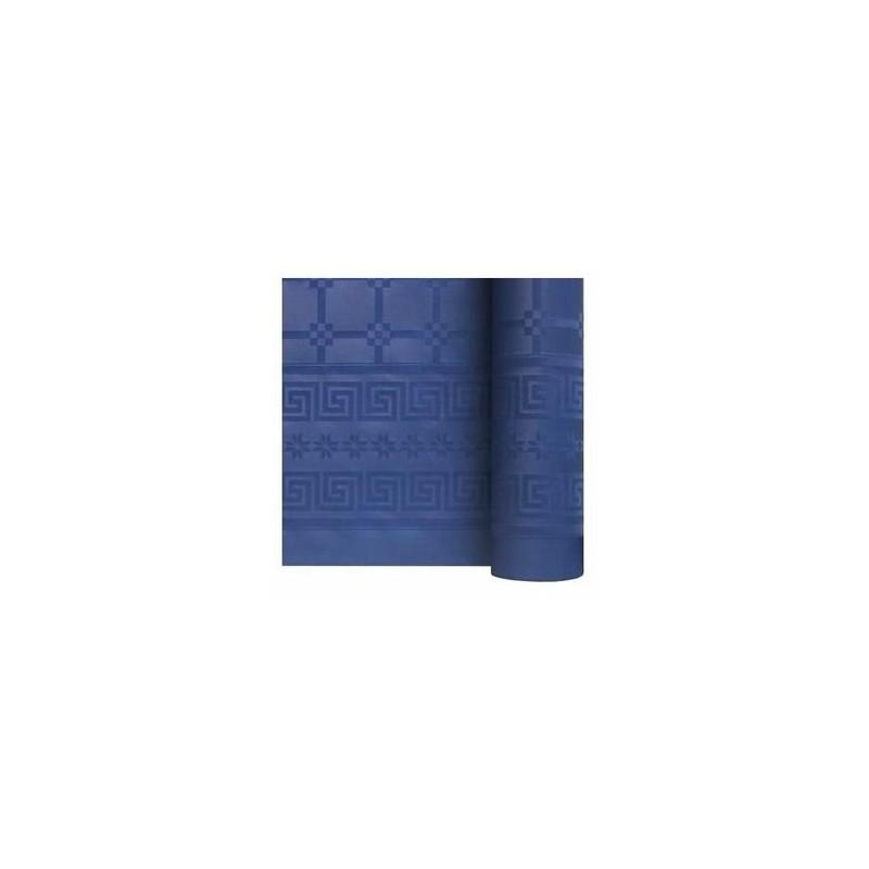 nappe damass e 6m bleu marine envies festives. Black Bedroom Furniture Sets. Home Design Ideas