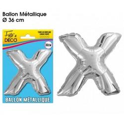 "BALLONS 36CM ALU ""X"""