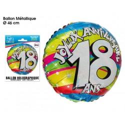 "BALLONS 46CM ALU ""18 ANS """