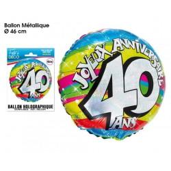 "BALLONS 46CM ALU ""40 ANS """
