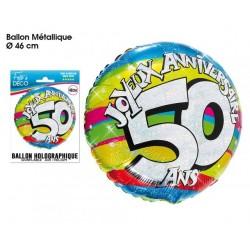 "BALLONS 46CM ALU ""50 ANS """