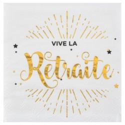SERVIETTE DE TABLE RETRAITE OR