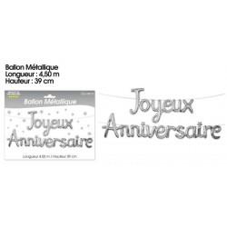 BALLONS JOYEUX ANNIVERSAIRE ARGENT